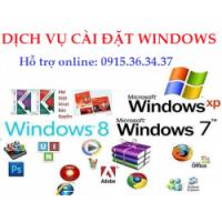 Dịch vụ cài windows 7, 8 cho PC và Laptop
