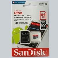 Thẻ nhớ MicroSD SanDisk Ultra 100MB/s 64GB
