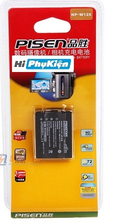 Mua Pin Pisen For Fujifilm NP-W126 giá rẻ tại Hiphukien.com