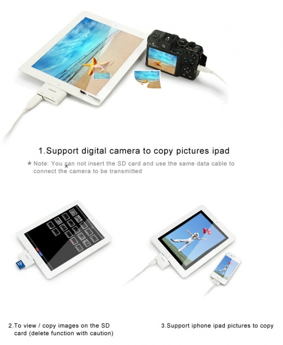 Camera Connection Kit For iPad (3 in 1)